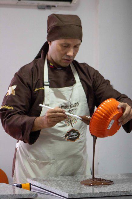 chocolatero profesional de árbol de cacao